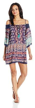 Angie Women's Cold Shoulder Dress with Crochet Details