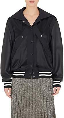 Maison Margiela Women's Faux-Leather-Sleeve Varsity Jacket