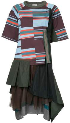 Kolor layered T-shirt dress