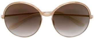 Elie Saab metal frame sunglasses