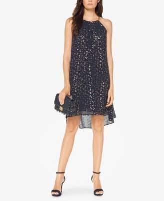 Michael Kors MICHAEL Embellished Star-Print Dress