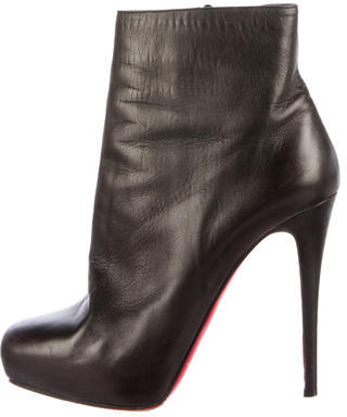 Christian Louboutin Christian Louboutin Mamanouk Leather Ankle Boots
