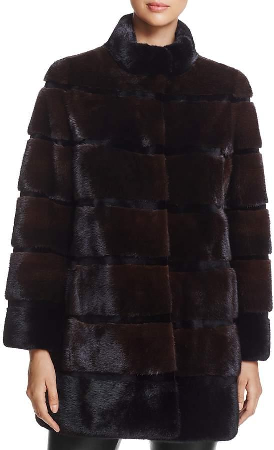 Stand Collar Kopenhagen Mink Fur Coat - 100% Exclusive