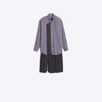 Balenciaga Shirt dress with pleated panel