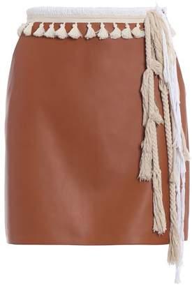 Loewe Tassel Straight Mini Skirt