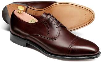 Charles Tyrwhitt Chocolate Calf Leather Toe Cap Derby Shoe Size 11