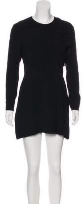 Saint Laurent Silk-Lined Mini Dress