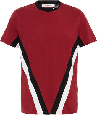 2b0e8d05 Givenchy Logo-Embroidered Striped Cotton-Jersey T-Shirt