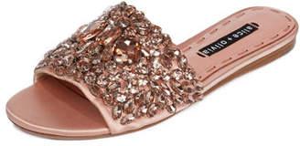 Alice + Olivia Abbey Jeweled Satin Sandal