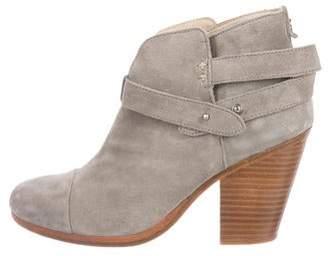 Rag & Bone Harrow Round-Toe Ankle Boots