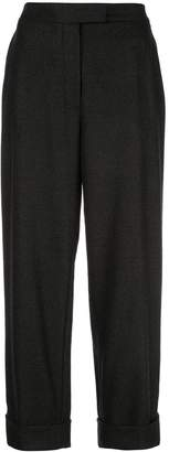 Oscar de la Renta turn up cuff cropped trousers