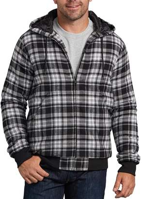 Dickies Men's X-Series Modern-Fit Plaid Hooded Bomber Shirt Jacket