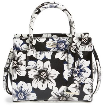 Kate Spade New York 'Cameron Street Floral - Mini Candace' Satchel - Black $278 thestylecure.com