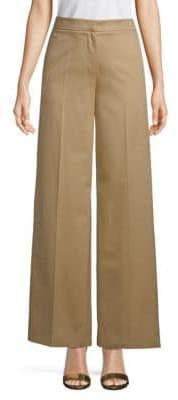 Valentino Cotton Wide-Leg Dress Pants