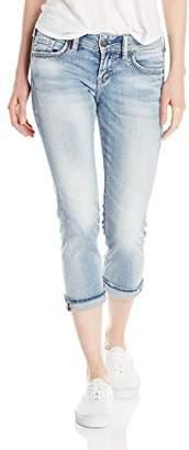 Silver Jeans Women's Suki Mid Capri Capri Jeans,(Manufacturer Size: 38)
