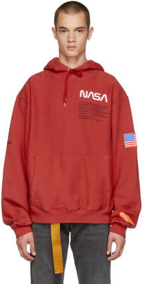 Heron Preston Red Fleece Hoodie