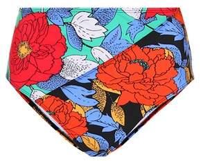Floral-printed bikini bottoms
