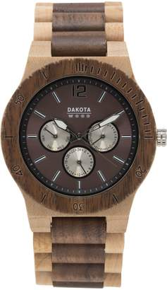 Dakota Men's Quartz Wood Watch, Color (Model: 26333)