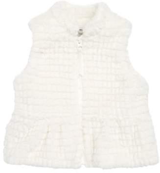 Widgeon Peplum Faux Fur Vest