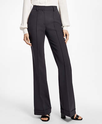 Brooks Brothers Cuffed Wide-Leg Tuxedo Pants