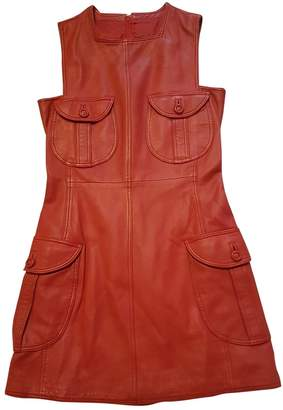Gianni Versace Red Leather Dress for Women