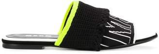 MSGM branded knit slides