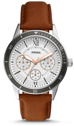 Fossil Flynn Sport Multifuntion Brown Leather Watch