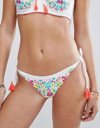 Floozie by Frost French Floral Placement Tie Side Bikini Bottoms