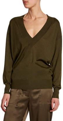 Tom Ford Cashmere-Silk Deep V-Neck Sweater