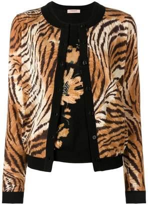 Twin-Set tiger cardigan set