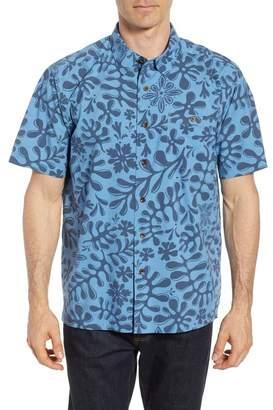 Quiksilver Waterman Collection Tika Inda Forrest Print Sport Shirt