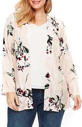 Evans Blush Floral Kimono Jacket