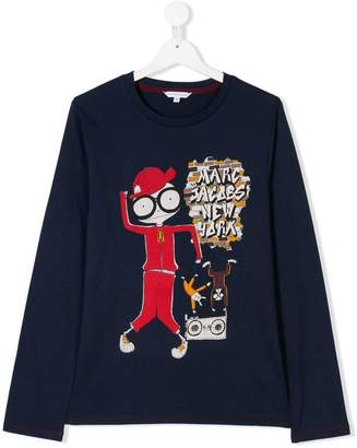 Little Marc Jacobs TEEN printed long-sleeved T-shirt
