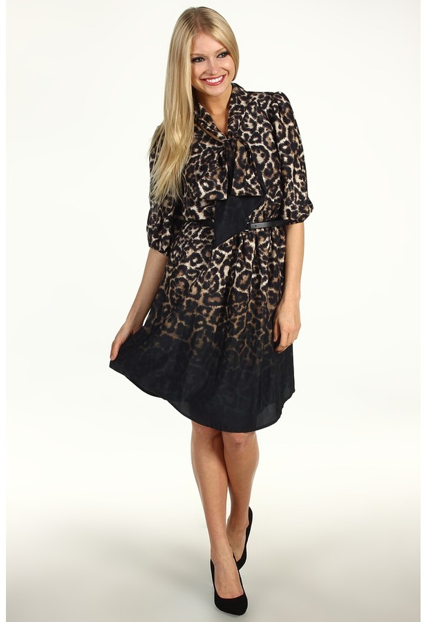 Vince Camuto Ombre Animal Print Dress VC2P1636 (Animal) - Apparel