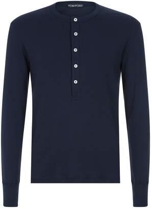 Tom Ford Long Sleeve Henley Shirt
