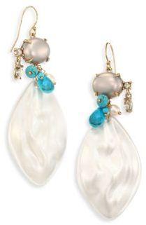 Alexis Bittar Crystal Liquid Silk Drop Earrings $225 thestylecure.com