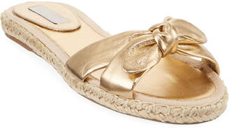 Tabitha Simmons Heli Metallic Flat Sandals, Gold