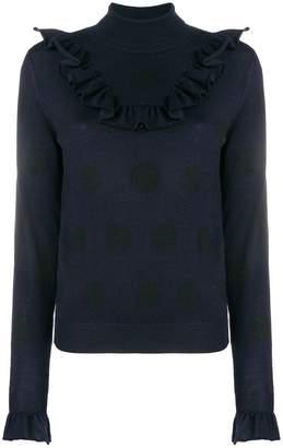 Dondup frill detail turtleneck sweater