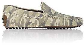 Tod's Men's Camouflage Canvas Drivers-Green