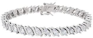 Diamonique Marquise Tennis Bracelet, Sterlingor 14K Clad
