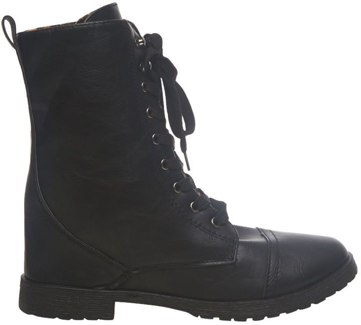 Wet Seal Leopard Fold-Over Combat Boot