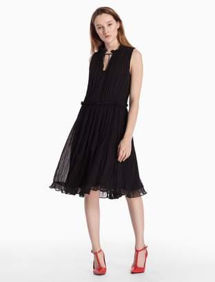 Calvin Klein crinkle silk sleeveless easy dress