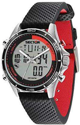 Sector Men's 'Master' Quartz Stainless Steel and Leather Sport Watch