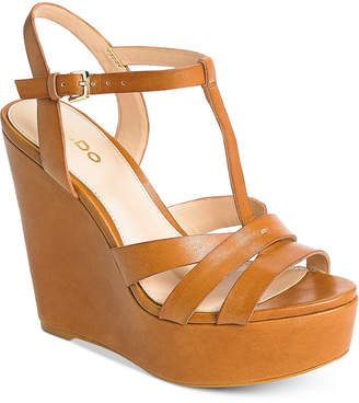 Aldo Nydaycia Wedge Sandals Women Shoes