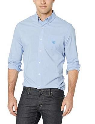Chaps Men's Plaid ec Stretch-Long Sleeve-Sport Shirt