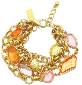 Savvy Cie 18K Plated Crystal Bracelet