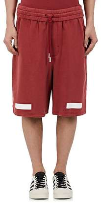 "Off-White c/o Virgil Abloh Men's ""Seeing Things"" Cotton Terry Shorts $325 thestylecure.com"