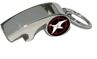 Duck Hunting, Plated Metal Whistle Bottle Opener Keychain Key Ring