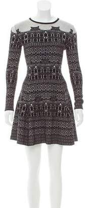 Vivienne Tam Long Sleeve Mini Dress