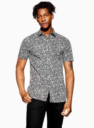 TopmanTopman Black Ditsy Print Stretch Skinny Shirt